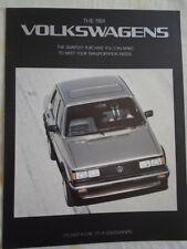 VW range brochure 1984 USA market