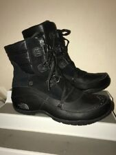 The North Face Womens Nuptse Purna Shorty Black Lace Up Boots Shoes size 10 M