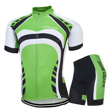 Breathable Coolmax Mens Cycling Kits Riding Racing Bike Wear Jersey & Shorts Set