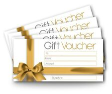 12 x Blank Gift Certificates Vouchers, DL Envelope Size, High Quality Card