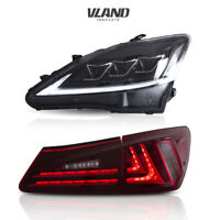 VLAND LED Headlights + Tail Lights For Lexus IS250 350 ISF 2006-2013 2 Pair