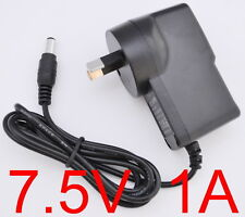 AC 100-240V Converter Adapter DC 7.5V 1A 7.5W Power Supply 1000mA AU 5.5 x 2.1mm