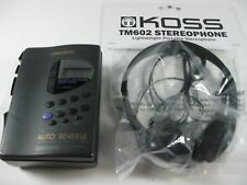 Koss Am/Fm Stereo Radio Cassette Player Model Pp105, New Headphones