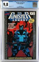 NEWSSTAND VARIANT CGC 9.8 Punisher Armory #2, White Pages, NEW CASE