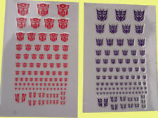 Transformers G1 Decepticons OR Autobots 90+Symbol Sticker Decal for Custom COOL