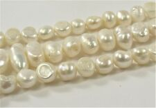 6-7mm Natural White Potato Freshwater Pearl Nugget,Genuine Natural Pearls (#350)