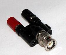 BNC Male Plug to Two Dual Banana Female Jack Coaxial RF Adapter (US Stock)