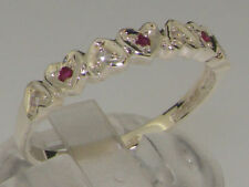 Natural Round Ruby Sterling Silver Fine Rings