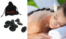 9 Hot Massage Stones Kit Heat Therapy Relaxing Spa Treatment Black Basalt Rock
