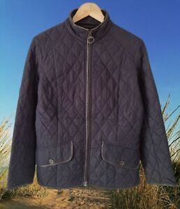 BARBOUR NAVY STALLION QUILT WOMEN'S JACKET SIZE UK 14 GOOD USED CONDITION