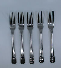"Jamie Oliver Waves Flatware Cutlery Stainless Steel 18-10 Forks 8.25"" Set of 5"