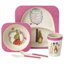 Beatrix Potter Flopsy Bunny 5-Piece Organic Dinner Set - Nursery New Baby Gift