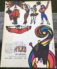 FESTIVALES DE ESPANA MADRID VIII FESTIVAL 1969 PROGRAM W/3 PAMPHLETS & 3 TICKETS