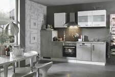 Küchenblock mit Glaskeramikkochfeld und Geschirrspüler Mara 280 cm in Betonoptik