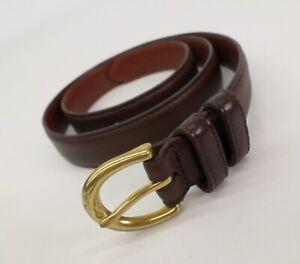Coach Leather Belt Medium 30 Cowhide 3925 Solid Brass Buckle Brown
