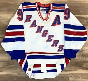COLOR BLEED New York Rangers Vintage CCM Authentic Adam Graves NHL Hockey Jersey