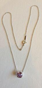 Tiffany & Co. amythest & 925 sterling silver Sparkler pendant necklace