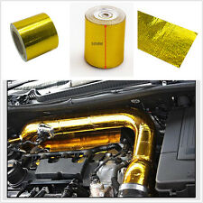 """Roll Self Adhesive Reflective Gold High Temperature Heat Shield Wrap Tape 2""""x33"""""""