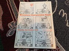1976 programma SILVERSTONE 2/10/76 - CAMPIONATO le finali-brdc