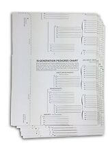 TreeSeek 15 Generation Pedigree Chart | 10 Pack | Blank Genealogy Forms for F...