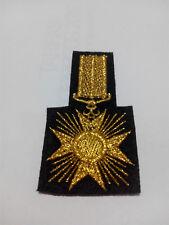 Parche bordado para coser MEDALLA militar insignia dorado 7/4 cm adorno ropa