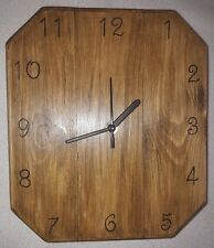 Handmade Wooden Jacobean Dark Oak Wax Finished Wall Clock