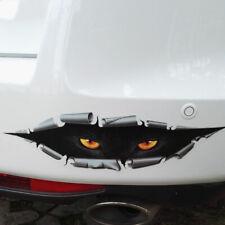 Black Funny 3D Thriller Anger Peeking Wolf Leopard Sticker Car Body/Fenders/Door