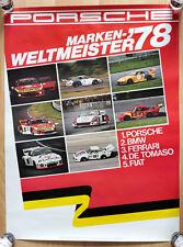 """orginal Porsche Plakat Renn Poster """"Markenweltmeister"""" 1978 Martini Porsche 935"""
