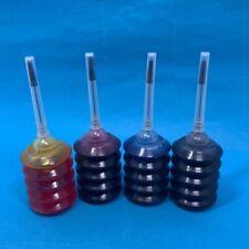 4pcs 30ml Black & Color Dye Ink Refill Bottles For Cartrige Type Inkjet Printers