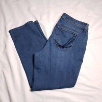Style & Co Jeans Size 16W Plus Straight-Leg Stretch High Rise Womens Medium Wash