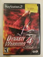 Dynasty Warriors 4 Sony PlayStation 2 PS2 Video Game Complete Tested FREE S/H