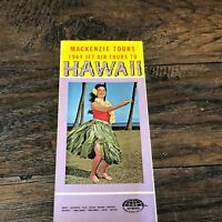 Vintage 1964 Hawaii Travel Brochure Hula Girl / Jet Air Tours ~ Tourist Guide