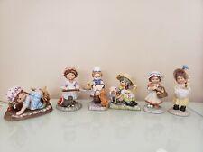 Vtg Lot of 6 Franklin Mint Porcelain Figurines,By Debbie Bell Jarratt,1984-1985