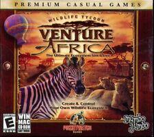 Wildlife Tycoon: Venture Africa (PC/MAC-CD, 2006) for Win/Mac - NEW CD in SLEEVE