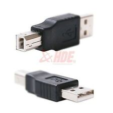 USB Type A Male To USB 2.0 Type B Male Adapter Converter Printer Cable Computer
