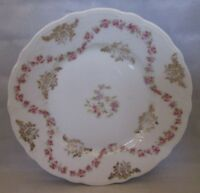 CT China Germany Bread Plate Floral Pattern Scalloped edges
