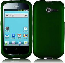 Huawei Ascend Y H866C Rubberized HARD Case Snap On Phone Cover Dark Green