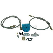 CXRacing Universal Aluminum Oil Line Kit + Turbo Oil Filter T3 T4 T70 T72 T76