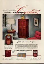 1951 Capehart PRINT AD Vintage Television Models Chippendale Shenandoah Cortlan