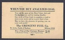 1936 CRESCENT COAL CO HIGH QUALITY COAL W/IMPROVED HEAT, CLEVELAND OH