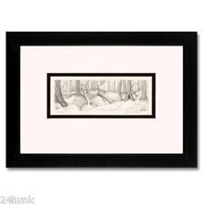 Charles Bragg Framed Original Drawing REDWOOD STUDY