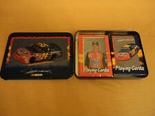 #24 Jeff Gordon MEN Playing Cards With Tin Case 1 Deck Of Cards NIB And 1 Used.