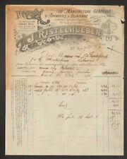 "PARIS (XI°) USINE d'APPAREILS DE CHAUFFAGE & D'ECLAIRAGE ""J. RISTELHUEBER"" 1902"