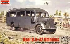 Opel Blitz 3.6-47 Omnibus con 39 (wehrmacht & Afrika Korps Mkgs ) 1/72 Roden
