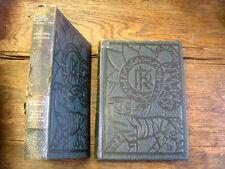 Rudyard Kipling lot de 2 livres bois gravés Boyer