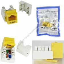 Cat5e RJ45 Keystone Network/Ethernet 10/100/1000 Jack/Port 110Punch Down{YELLOW