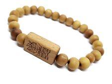 Tibetan Bracelet Luck Safe Travel Protection Inscription 24 Wooden Blessed Beads