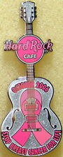 Hard Rock Cafe ONLINE 2006 Breast Cancer Awareness GUITAR PIN w/Ribbon Pinktober