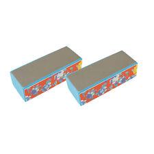 2Pcs 4-ways Shiner Nail Manicure Buffer Polishing Sponge Block Sanding Files US