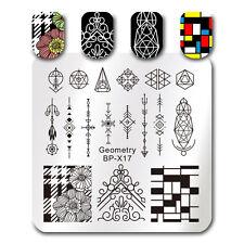 BORN PRETTY Nail Art Stamp Plate Geometry Figure Design Image Template BP-X17